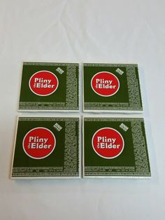 Check out this item in my Etsy shop https://www.etsy.com/listing/243249196/pliny-the-elder-4-piece-coaster-set