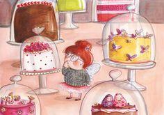 Sweet world,  illustration by Ania Simeone