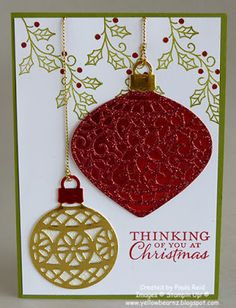 Yellowbear Stampin: Embellished Ornaments - Glimmer and Shine