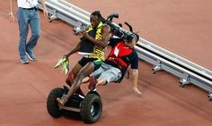 ICYMI: @usainbolt swept off his feet by out of control Segway cameraman. Twitter reacts.  http://www.cbc.ca/sports/trackandfield/usain-bolt-taken-down-by-cameraman-on-segway-1.3205621…via Twitter @AlistairReign & AlistairReignBlog.com