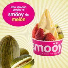 ¡Sí señor! ¡Ya está aquí el sabor que muchos estabais esperando! ¡Esta semana prueba en tu espacio smöoy favorito nuestro sabor semanal de melón!