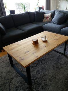 Onze zelf gemaakte tafel.
