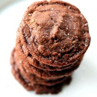 Easy 5-Ingredient Fudgy Nutella Cookies with Sea Salt | Ambitious Kitchen