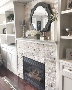 Inspiring Fireplace Ideas for Your Living Room (70)