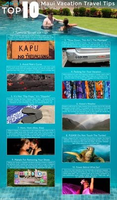 top 10 maui vacation travel tips infographic