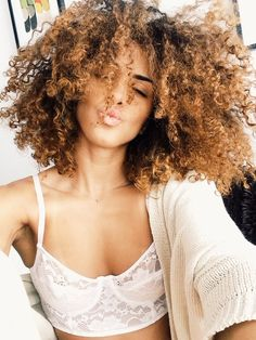 Beautiful Brazilian with curly hair