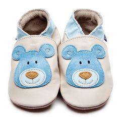 Inch Blue Fille/Garçon Baby Coffret Cadeau–Chaussures en Cuir & Grenouillère en Coton–avec Broderie Décorée–Colibri - Blanc - Weiß 3VSG8Im4,