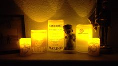 Vellum Paper Luminaries | Check Out Our Crucible candles! Flameless candles and vellum paper from Walmart!