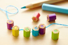 Make Your Own Pencil Beads Cute idea!