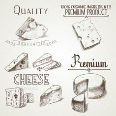 Buy Cheese Sketch Icons by Undrey on GraphicRiver. Hand drawn doodle sketch cheese with different premium quality types of cheeses in retro style stylized. Cheese Drawing, Food Drawing, Doodle Sketch, Doodle Drawings, Menu Design, Logo Design, Graphic Design, Cheese Cartoon, Sketch Icon