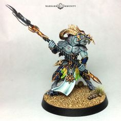 From the Mind of Mengel: How to Paint Tzaangor - Warhammer Community Blood Bowl, 28mm Miniatures, Fantasy Miniatures, Warhammer Aos, Warhammer Fantasy, Heavy Metal, Thousand Sons, Glow Effect, Step By Step Hairstyles