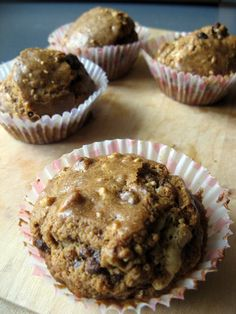 Feel Eat!: Muffinki orzechowo-czekoladowe