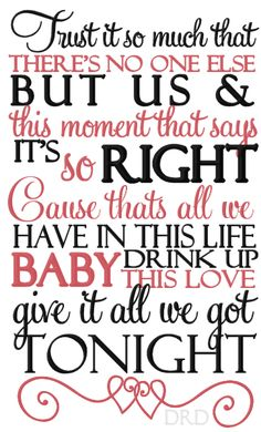 Give It All We Got Tonight - George Strait....def made it to my top 5 favorite King George songs list :)
