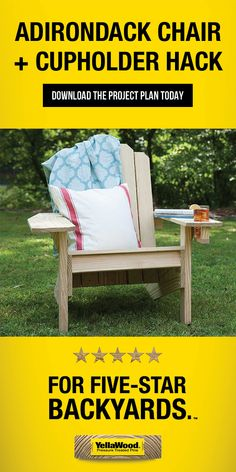 Free Adirondack Chair Plan that is simple to build and will be comfortable to sit in while enjoying the outdoors. This Adirondack chair plan features classic lines and angles and uses straightforward construction and common materials Backyard Projects, Outdoor Projects, Wood Projects, Outdoor Crafts, Outdoor Rooms, Furniture Plans, Furniture Makeover, Outdoor Furniture, Plans Chaise Adirondack