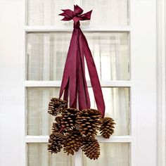 Decorate your home this season with one of our pine cone crafts! These DIY Christmas decorations and ornament ideas using pine cones will spruce up your home. Noel Christmas, All Things Christmas, Winter Christmas, Xmas, Fall Winter, Christmas Ribbon, Simple Christmas, Christmas Ideas, Christmas Balls