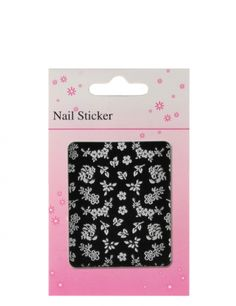 French nails have long been fashionable, and almost all women have them modeled. The nail art stickers in white are the finishing touch for nails with white nail tips.  #nded #nail #art #stickers www.nded.com