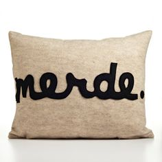 MERDE oatmeal and black recycled felt by alexandraferguson on Etsy. {Need this: could be a DIY}
