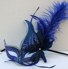 Turquoise Masquerade Masks with Feathers | images of feather masquerade ball party mask blue silver wallpaper