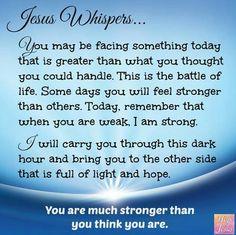 Jesus Whispers Thank You Jesus, My Jesus, Jesus Christ, Savior, Inspirational Bible Quotes, Scripture Quotes, Bible Scriptures, Healing Scriptures, Motivational