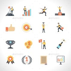 Buy Success Icons Set by macrovector on GraphicRiver. Success in business and education flat icons set isolated vector illustration. Editable EPS and Render in JPG format Real Estate Icons, Business Icon, Photo Craft, App Icon, Icon Set, Icon Design, Vector Free, How To Draw Hands, Success