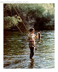 Fly fishing is a classy way to catch fish.