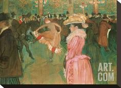 At the Moulin Rouge: The Dance, 1890 Stretched Canvas Print by Henri de Toulouse-Lautrec at Art.com