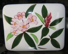 Stangl Pottery Rhododendron Box, from White Rose Antiques.