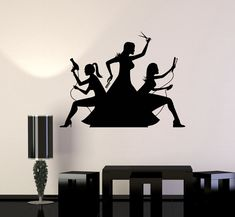 Wall Decal Hair Beauty Salon Hairdresser Barbershop Stylist Vinyl Mural (ig2920)