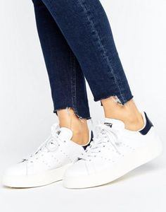 adidas Originals Bold Double Sole White And Black Stan Smith Sneakers