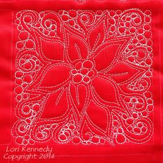 ~ tutorial ~ Poinsettia free-motion quilting by Lori Kennedy at The Inbox Jaunt