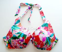 Victoria's Secret Forever Sexy Push Up Halter Bikini Top 38B Bright Floral 3CV  #EBAYSUMMER #Deal #FREESHIPPING #CASHMEREANDCONFETTIOUTLET on @eBay