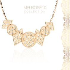 Geometric Allure... Melrose 10 18kt gold plated bronze necklace, discover more on rebecca.it ♥ #rebeccajewels #necklace #revival #welcomeback