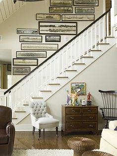 Great examples of gallery walls / how to group frames