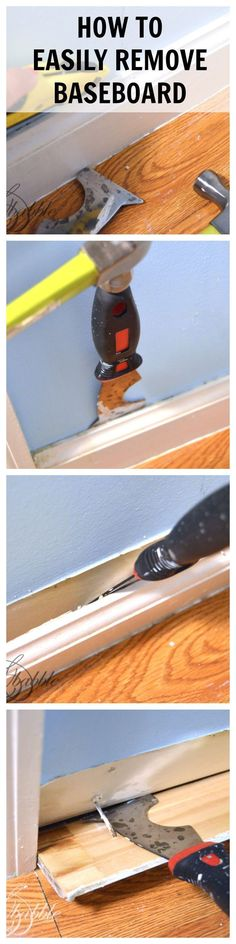 HOW TO EASILY REMOVE BASEBOARD | createandbabble.com