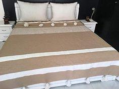Amazon.com: Moroccan blanket, pom pom blankets,bed spread,moroccan throw blanket,cotton moroccan bedding,pom pom throw blankets,berber moroccan decor: Handmade Cal King Bedding, Twin Xl Bedding, White Throw Blanket, Make Blanket, Warm Blankets, Cotton Blankets, Throw Blankets, Moroccan Decor, Moroccan Bedding