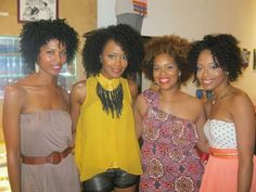 Natural Hair Queens. natural ladies!
