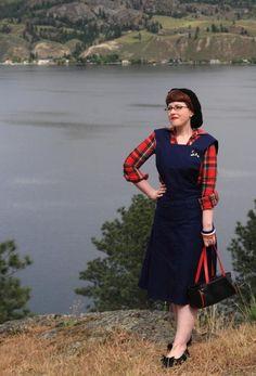 Chronically Vintage | Enjoying the beautiful Kaleden view in my Jitterbuggin'…