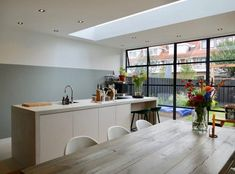 www.lifs.nl House Extension Design, House Design, Crittal Doors, Living Styles, House Extensions, Home Look, Modern Interior Design, Kitchen Living, Sweet Home