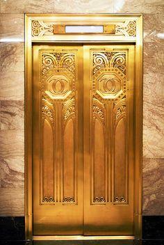 Hotel Entrance Door Design Art Deco 23 Ideas For 2020 Hard Rock Hotel, House Entrance, Entrance Doors, Art Nouveau, Elevator Design, Gold Door, Estilo Art Deco, Cool Doors, Art Deco Design