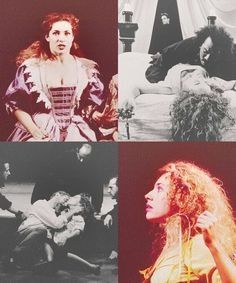 Alex Kingston on the stage