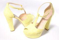 Scarpe sandalo decolte donna giallo fluo 40 made in italy tacchi alti 46,00 Eur  http://www.marketitaliano.it/?df=171349939216