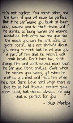 He's not perfect and neither are you...