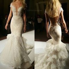Absolutely loving the front + back of this @pninatornai dress from her show at #nybfw. Tag a bride!