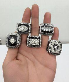 5PCS 1967 1976 1980 2002 2014 Oakland Raiders World Championship Ring Gift !!