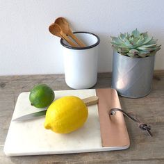 Marble And Copper Chopping Board