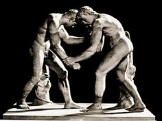 Two wrestlers. 1cen BC. Torlonia collection