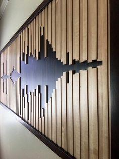 Abstract geluidsgolf houten muur kunst houten muur kunst aan | Etsy