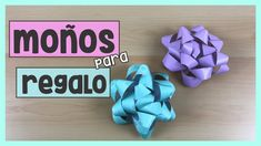 MOÑOS DE REGALO - Moños de papel | Súper fáciles de hacer! | Creativa Official Ideas Paso A Paso, Origami, Etsy, Decor, Creative Gifts, How To Make, Paper Envelopes, Cards, Creativity