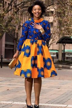 African dress Ankara gown vintage dress handmade African womens clothing Short gown flayed gown long sleeve high neck with cape African Fashion Designers, Latest African Fashion Dresses, African Dresses For Women, African Print Dresses, African Print Fashion, Africa Fashion, African Attire, African Wear, African Women