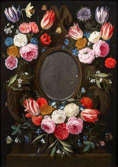 Фламандский живописец Ян ван Кессель Старший (Jan van Kessel the Elder, 1626-1679, Flemish) - Still Life (flowers) \1\. Обсуждение на LiveInternet - Российский Сервис Онлайн-Дневников